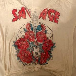 Trendy Cut-Out T-shirt